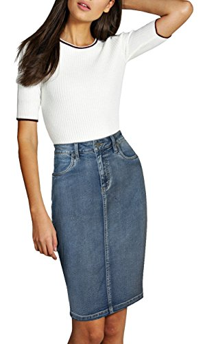 Lexi Womens Pull on Stretch Denim Skirt SKS22890 Potassium 6