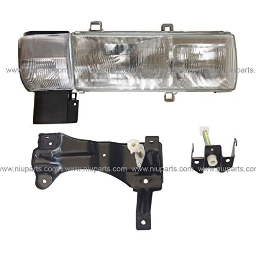 Headlight with Mounting Bracket and Corner Lamp - Passenger Side (Fit: Nissan UD 1800, UD 2000, UD 2300, UD 2600, UD 3300 Trucks)