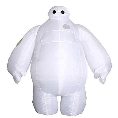 CHANGL Aufblasbares Baymax-Kostüm für Erwachsene Halloween-Cosplay-Kostüm New Big Hero 6 Maskottchen-Kostüme Party-Kostüm für Männer Frauen