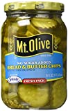 Mt. Olive Bread & Butter Chips, No Sugar Added 16 Oz (Pack of 3)