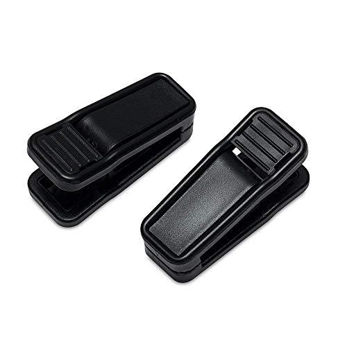HOUSE DAY Dientes de plástico Negro para Clips, Perchas, Paquete de 20 Clips para Colgar para Usar con Perchas para Ropa de línea Delgada, Clips para Perchas de Terciopelo