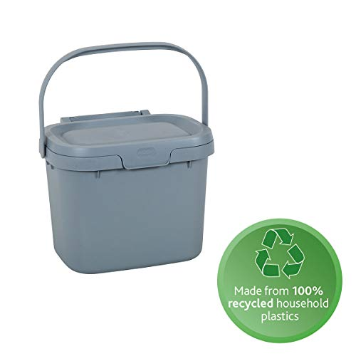 Lowest Price! Addis 518384 Eco 100% Recycled Plastic Everyday Kitchen Food Waste Compost Caddy Bin, ...