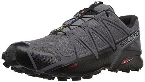 Salomon Men's SPEEDCROSS 4 Trail Running Shoes, Dark Cloud/Black/Pearl Grey, 10.5