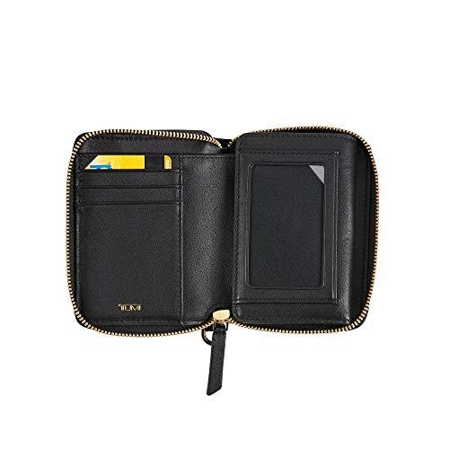Tumi Voyageur SLG Tri-Fold Zip-Around Wallet Credit Card Case, 12 cm, Black