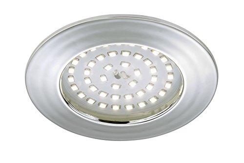 Briloner Leuchten 7206-018 LED Einbauleuchte, Einbaustrahler, LED Strahler, Spots, Deckenstrahler, Deckenspot, Lampen Wohnzimmer, led einbaustrahler 230v, Deckeneinbauleuchten, 10,5 Watt, 1000 Lumen, Badezimmer / Bad geeignet IP44, energiesparend, rund, chrom