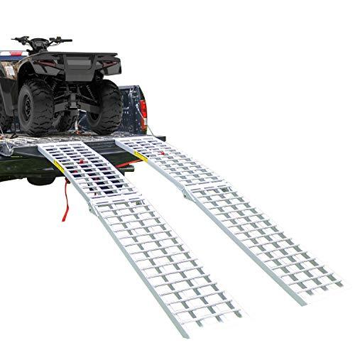 Budge Aluminum Heavy Duty Folding ATV/UTV Ramp - 8' Long, 3,000 lb Weight Capacity (Sold as Pair)