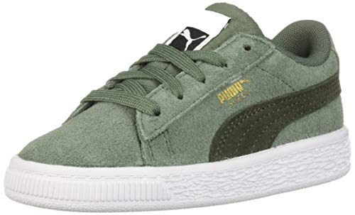 PUMA baby-boys Suede Classic INF Sneaker, Laurel Wreath-Forest Night Team Gold, 10 M US Toddler