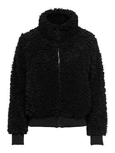 ONLY Sherpa Bomber Female Jacket - Black - L