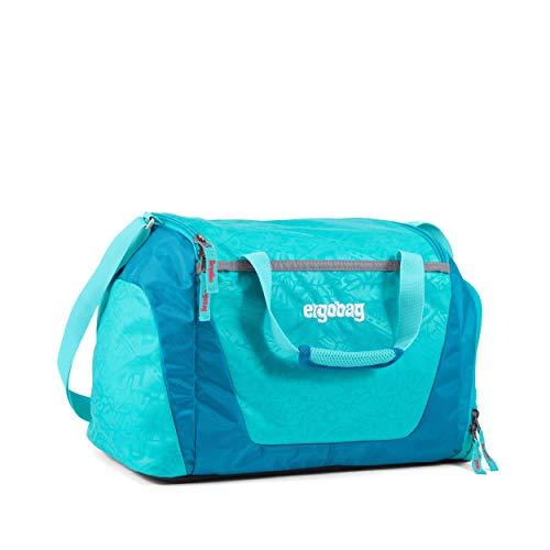 ergobag Sporttasche Hula HoopBär, wasserdichtes Seitenfach, Tragegriffe und Umhängegurt, 20 Liter, 500 g, Hawaii Türkis