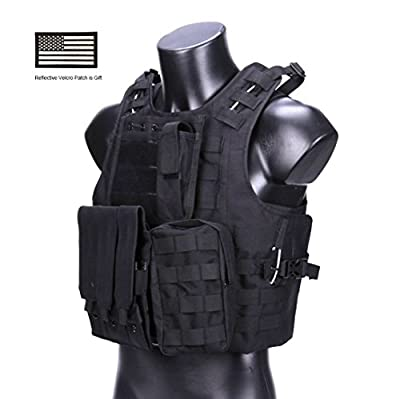hannah fit Tactical Molle Airsoft Vest Paintball Combat Soft Vest