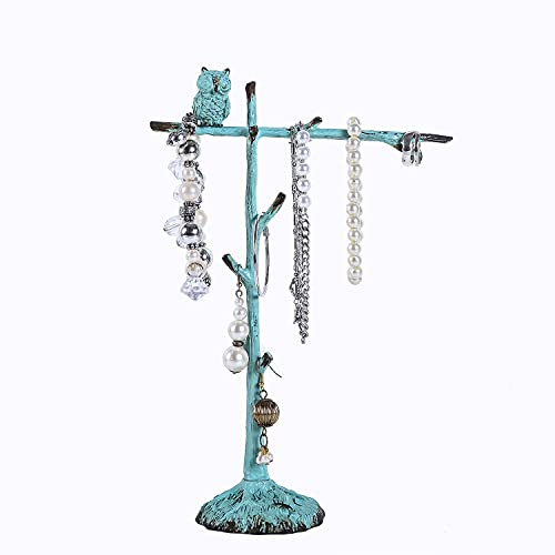 Shabby Chic Pewter Jewelry Stand