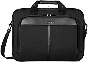 Targus Classic Slim Briefcase with Crossbody Shoulder Bag Design for the Business Professional Travel Commuter and Laptop Protection fits up to 16-Inch Laptops, Black (TCT027US)