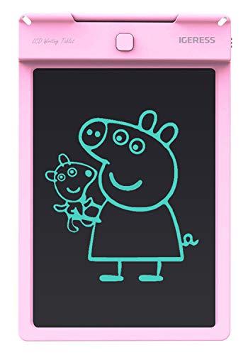 """Preisvergleich Produktbild IGERESS Schreibtafel,  9 Zoll LCD Schreibtafel Elektronische Schreibtafel Digitale Zeichenplatte Grafische Zeichnungsplatte für Kinder Schreiben Lernen Zeichnen (9"""" Rosa)"""