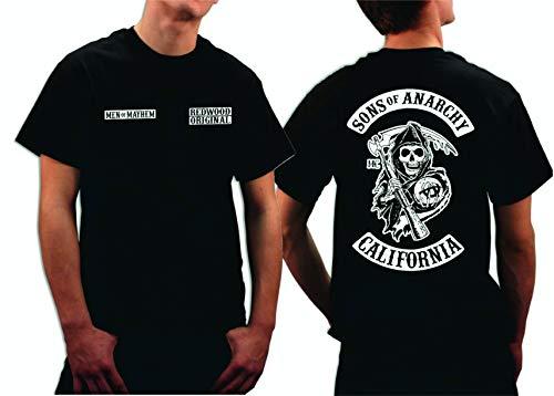 Sons of Anarchy Redwood Original Men of Mayhem Reaper Camiseta, Negro, XL