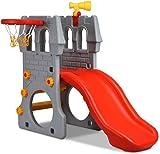GLACER Toddler Slide, 4 in 1 Kids Climber and Slide Set for Indoor and...