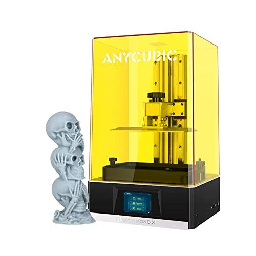 ANYCUBIC Photon Mono X Impresora 3D Resina, Luz UV Curado SLA con Pantalla LCD Monochrome 3840 * 2400 4K, Alta Velocidad y Control por Wifi con App, Volumen Impresión 192 x 120 x 250 mm