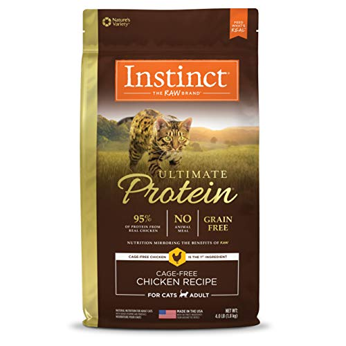 Instinct Ultimate Protein Grain Free Cage Free Chicken Recipe Natural Dry Cat Food by Nature's Variety, 4 lb. Bag