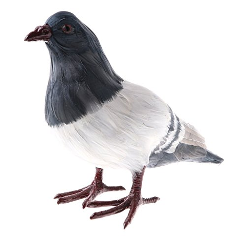 SGerste Figurine en forme d'oiseau de la ferme/sauvage/volaille, jouet pour enfants, décoration d'intérieur – Pigeon