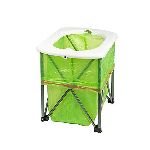 Viudecce Toilette Pieghevole da Campeggio Multifunzione per Il Tempo Libero Sedile per Il Tempo Libero Portatile Toilette Ultraleggera Portatile