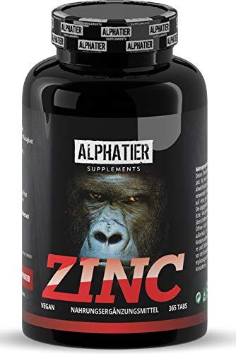 Zinktabletten hochdosiert + vegan - 365 Zink Tabletten 25mg - Zink-Chelat ohne Zusatzstoffe/Magnesiumstearat - Elementar Zinc - Zinktabletten - Fitness + Bodybuilding