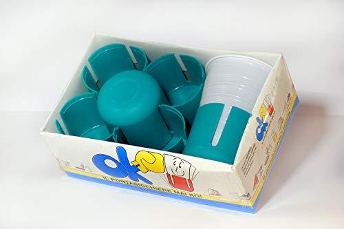 N/D Sottobicchieri Reggibicchieri in Plastica Set 6 Pezzi Porta Bicchieri Antivento Anticaduta (Verde)