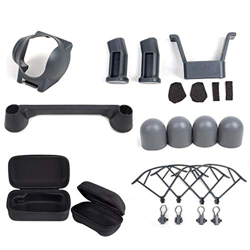 HUANRUOBAIHUO 7 in 1 for DJI Mavic Pro Accessories kit Drone Body and Remote Bag Quick Release Propeller Prop Guards Landing Gear Lens Hood Quadcopters Accessories