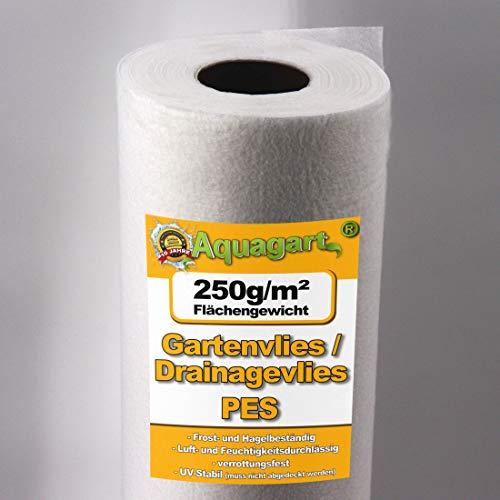 240 M² geotextilvlies tapis tapis anti-mauvaises herbes ubbink feutre pour bassin 1,6 m 250 g