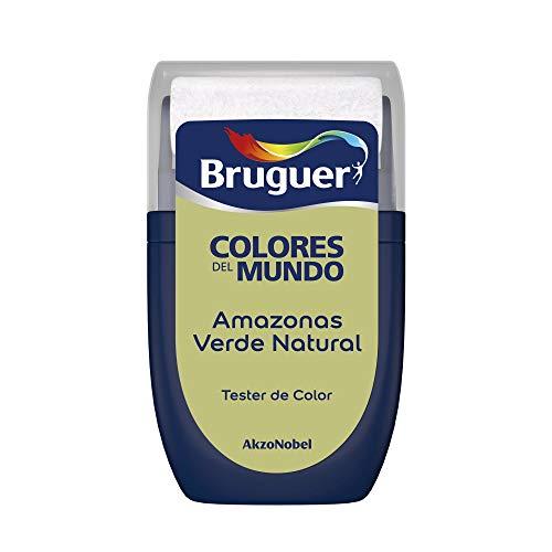 Bruguer Tester Colores del Mundo Pintura para paredes monocapa Amazonas Verde Natural, 0.030 litros