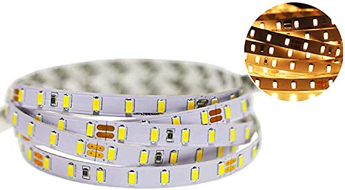 Ogeled Superhell Je Meter 60xleds 5730 SMD LED-Strip Streifen flexibel mit klebeband selbstklebend 12V CRI90 (Warmweiß, 1m)