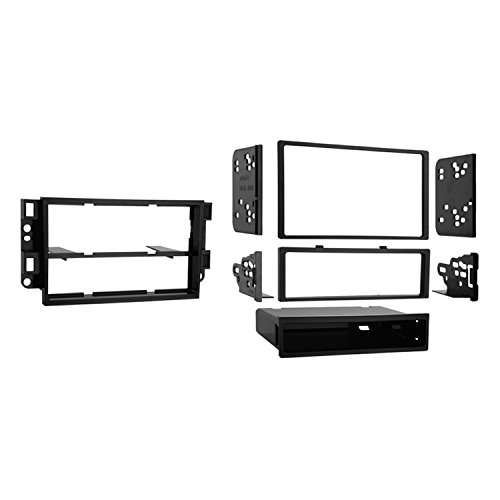 Metra 99-3306 Double DIN or Single DIN Installation Dash Kit for 2007-up Chevrolet Aveo and Pontiac G3 (Black)