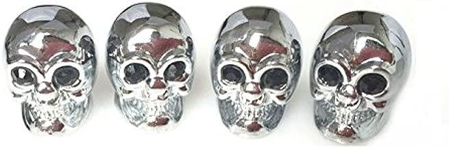Ywewy Skull Valve Covers,Air Stem Car Wheel Caps,Crystal eyes (Black)