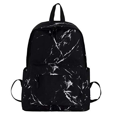 Euopat Zaini per La Scuola, Zaini per Laptop con Motivo in Marmo di Moda Borsa da Viaggio Casual Zaino per Studenti per Ragazzi E Ragazze, Adolescenti