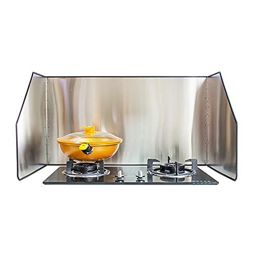 liangzishop 3-Sided Splatter Guard Stainless Steel Kitchen Cooking Frying Pan Oil Splash Gas Stove Shield Anti Splatter Protector Guard (Size : 85 * 70 * 50cm)