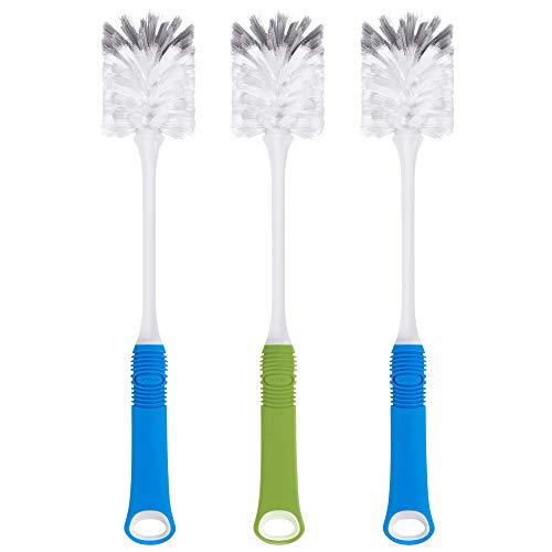 MR.SIGA Langer Griff Reinigungsbürste Tassenbürste Flaschenbürste Gläserbürste Mixtopf Spülbürste Tüllenbürste mit Nylonborsten, 3er Pack