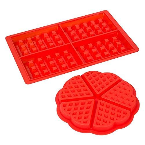 Level 2 Styles Silikon-Waffel-Moulds Mikrowelle Backen Plätzchen-Kuchen-Maschine Pan Gebäck Kochen Mold