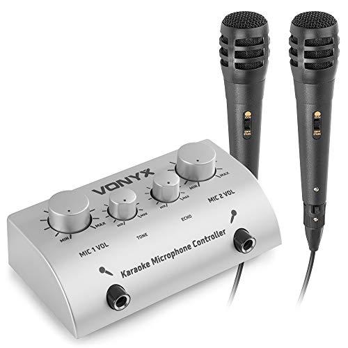 Skytronic 103112 - Mezclador de microfonos para karaoke