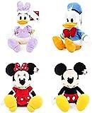 N/D Peluche 4pcs / Set 30cm Mickey Mouse Minnie Donald Duck Daisy Peluches Animal Muñecas de Peluche Cumpleaños para niños