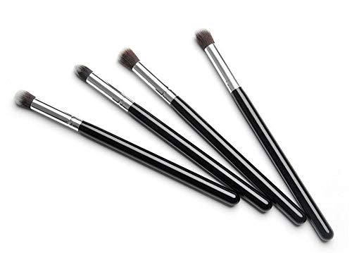 Pinceaux Maquillage Set 4 bâtonnets de fibre optique longue fibre maquillage noir-argent