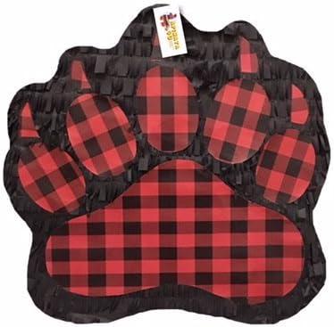 APINATA4U Large Paw Pinata Lumberjack Plaid Pa Red Black Buffalo 67% Purchase OFF of fixed price
