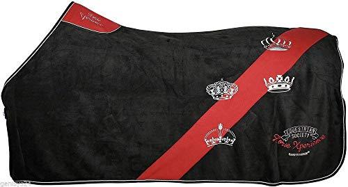 Harrys Horse extra dikke afzweetdeken cornwall stof paradekleed kroon zwart fleece