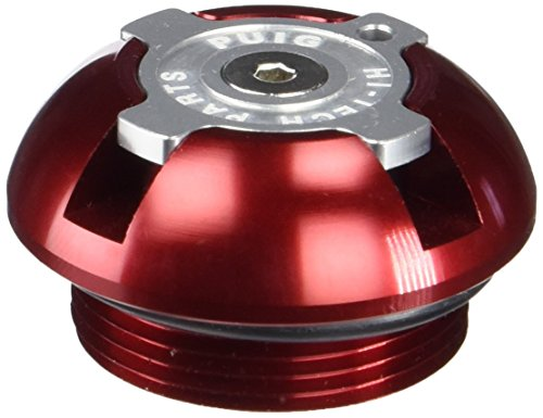 Puig 6158R Tapón Aceite Carter Hi-Tech, Color Rojo