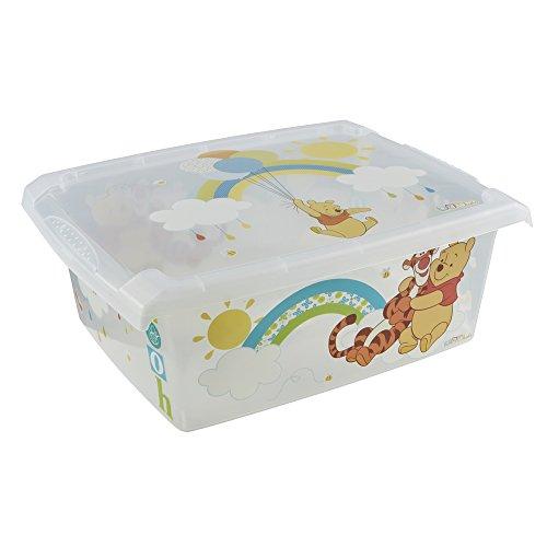keeeper Disney Winnie Puuh Aufbewahrungsbox mit Deckel, 39 x 29 x 14 cm, 10 l, Filip, Transparent