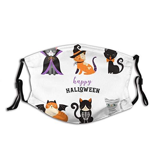 VOROY - Máscara de nariz reutilizable unisex para disfraz de gato de monstruos y felino con pendientes ajustables y filtro reemplazable