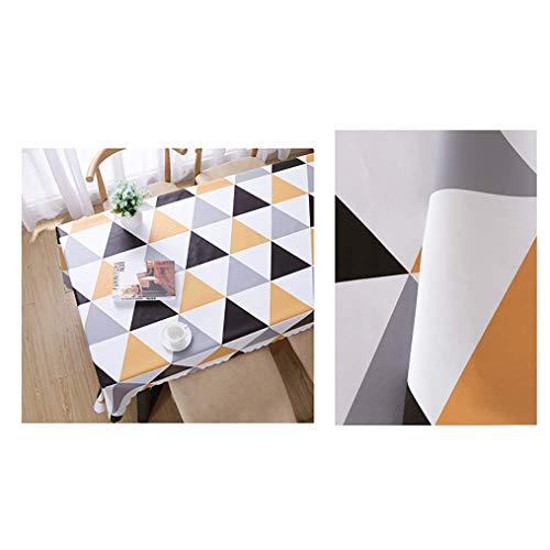 GCXZB Tablillo de Mesa Resistente al Agua Limpie el Mantel de Mantel Limpio para la Tabla de Patio (Color: Amarillo, Tamaño: 140 * 200 cm) (Color : Yellow, Size : 60 * 90CM)