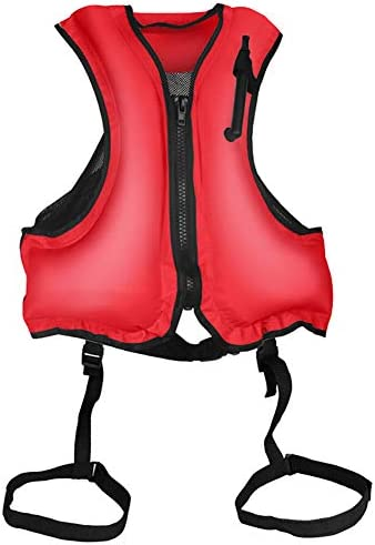 TRRAPLE Inflatable Swim Vest Adjustable Men Women Snorkel Vest Adult Inflatable Snorkeling Jacket product image