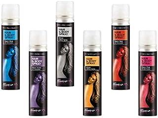 DISBACANAL Maquillaje en Spray para Cuerpo y Pelo - Azul,