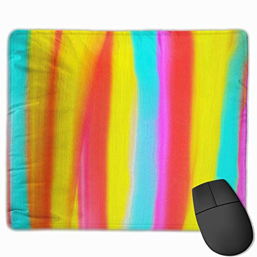 Sdwosibao Cute Gaming Mouse Pad,Desk Mousepad,Small Mouse Pads for Laptop Computers,Mouse Mat Colorful Retro Sunbrella Castanet Beach Stripes Carnival