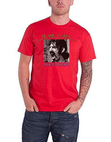 Frank Zappa T Shirt Chungas Revenge Album Cover Logo Nue offiziell Herren Rot