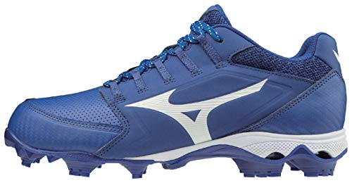Mizuno 320590.5200.05.0600 9-Spike Advanced Finch Elite 4 Womens TPU Molded Softball Cleat Royal-White (5200) 6 (0600)