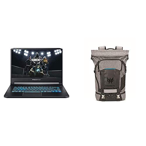 Acer Predator Triton 500 PT515-52-77P9 Gaming Laptop with  Predator Rolltop Gaming Backpack